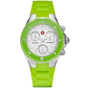 Michele Tahitian Jelly Green Chronograph Watch